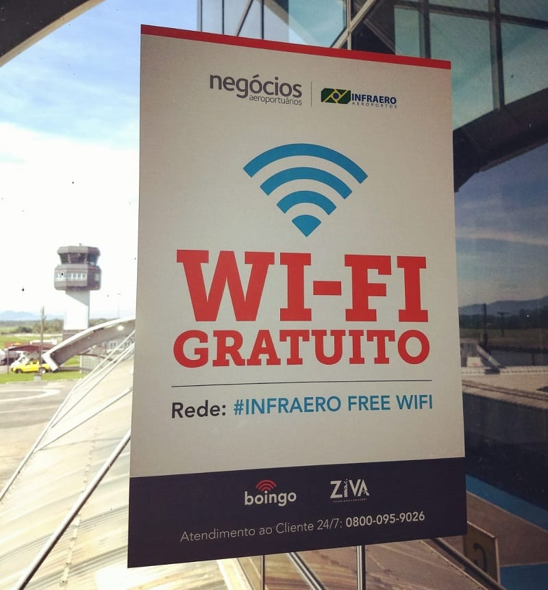 Aeroporto de Joinville/Lauro Carneiro de Loyola ganha internet grátis