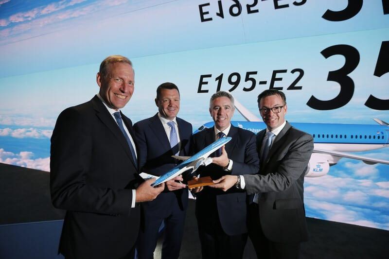 Embraer anuncia intenção de compra da KLM para 35 jatos E195-E2
