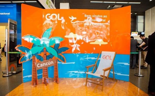GOL inaugura voos para Cancún como 14º destino internacional