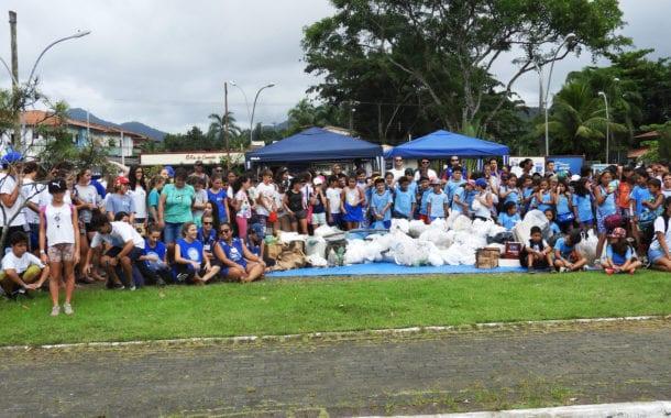 Aquário de Ubatuba, Projeto TAMAR e Instituto Argonauta limpam praias